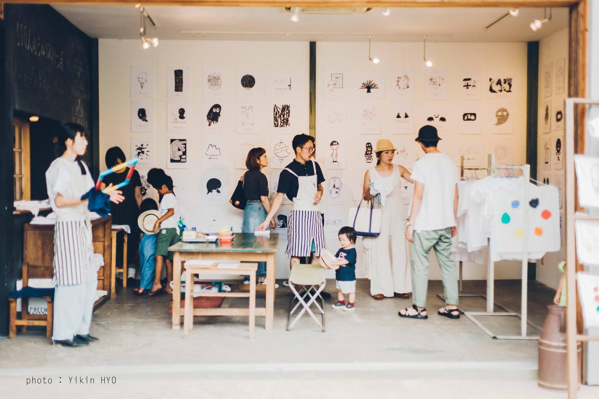 タナビケと100人のシルクスクリーン展に今年も出店しています。